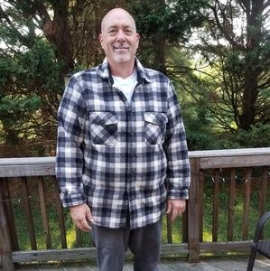 Flannel button down.  Comfortable  and soft